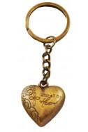 Брелок «Сердце» (Лука 10:27), бронз.пластик, круглое кольцо