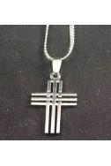 """Кулон """"Крест 3х3"""". Длина цепочки 44 см."""
