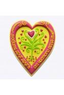 """Объемный христианский магнит """"Любите друг друга от чистого сердца"""""""